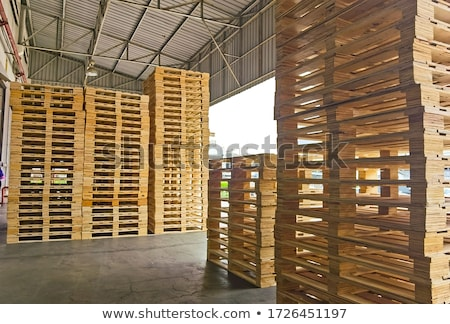 Stacked pallets Stock photo © IS2