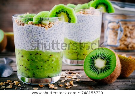 chia pudding with kiwi and granola Stock photo © M-studio