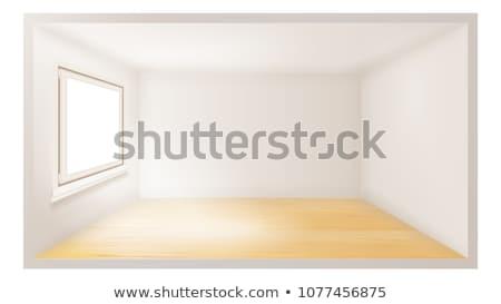 Empty Room Vector. White Wall. Plastic Window. Three Dimensional Interior. Indoor Design. 3d Realist Stock photo © pikepicture