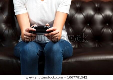 выстрел женщины рук черный геймпад Сток-фото © Nobilior