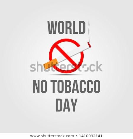нет курильщик плакат новых печать Сток-фото © Ecelop