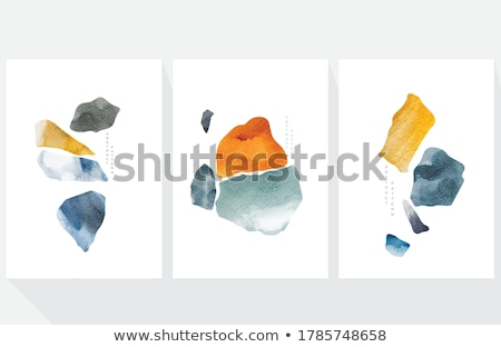 岩 · コレクション · ポスター · 石 - ストックフォト © robuart