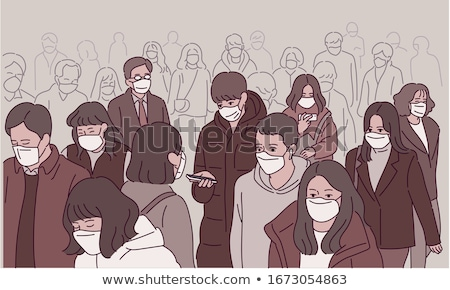 Sketch Design Outdoor Crowd Stock photo © lenm