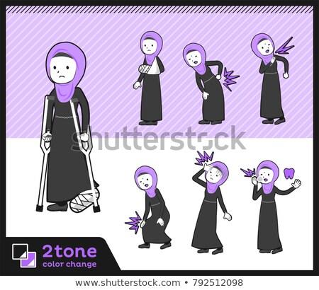 2tone type Arab women_set 08 Stock photo © toyotoyo