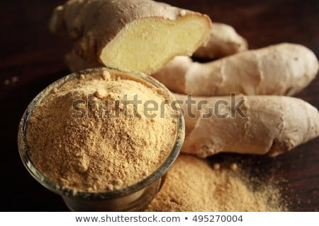 Stock photo: ginger root on wood