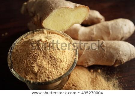 gengibre · raiz · madeira · comida · metal - foto stock © m-studio