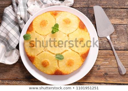 パイナップル ケーキ 先頭 表示 ストックフォト © M-studio
