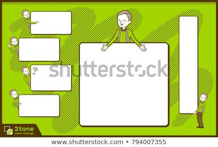 2tone type vest grandfather_set 14 Stock photo © toyotoyo