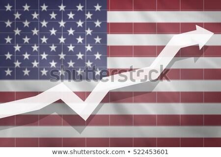 États-Unis économique croissance positif taux financière Photo stock © Lightsource