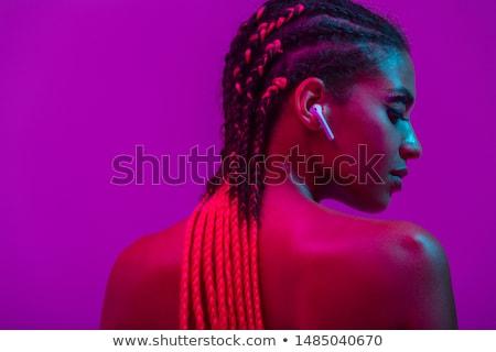 Moda portre üstsüz güzel kadın makyaj Stok fotoğraf © deandrobot