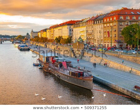 Embankment in Prague Stock photo © Givaga
