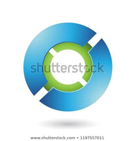 зеленый футуристический диск вектора иллюстрация изолированный Сток-фото © cidepix