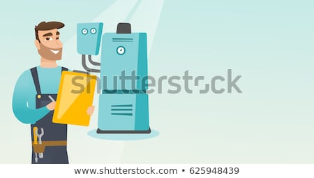 Working Plumber With His Tools Illustration Stock photo © artisticco