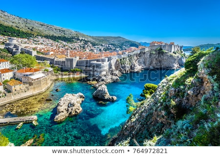 View at sea bay and old town of Dubrovnik in Croatia Stock photo © bezikus