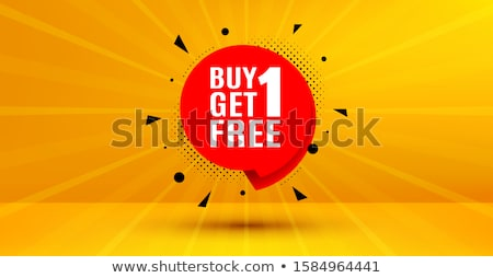 modern buy one get one free sale yellow banner design Stock photo © SArts
