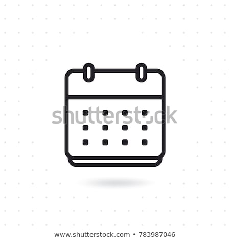 календаря · линия · икона · уголки · веб · мобильных - Сток-фото © imaagio