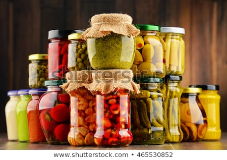 Preserved Food in Jars with Vegetables and Fruits Stock photo © robuart