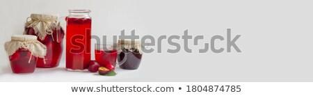 консервированный продовольствие Баннеры фрукты Jam набор Сток-фото © robuart