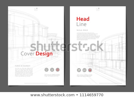 Abstract building with perspective. Architecture book cover Stock photo © ESSL