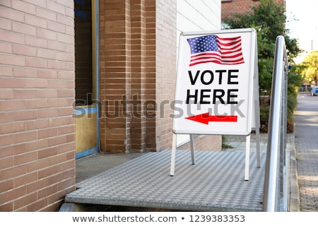 Polling Place Vote Here Sign On Board Stock photo © AndreyPopov