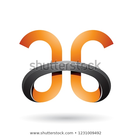 Orange and Black Bold Curvy Letters A and G Vector Illustration Stock photo © cidepix