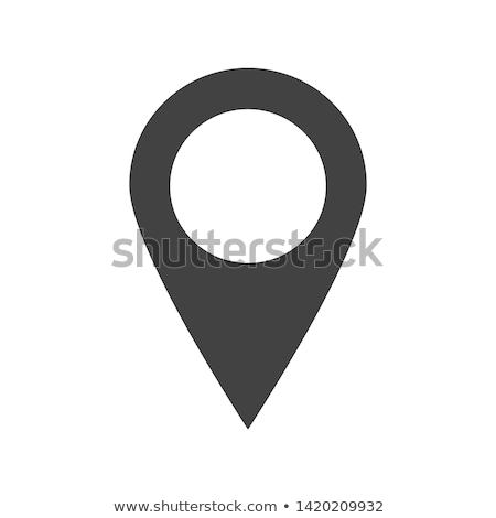 mapa · vetor · ícone · isolado · ilustração · eps - foto stock © NikoDzhi