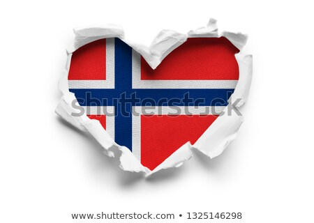 Norveç bayrak kalp şekli örnek dizayn arka plan Stok fotoğraf © colematt
