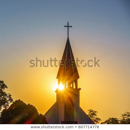 Stock photo: Church steeple sky