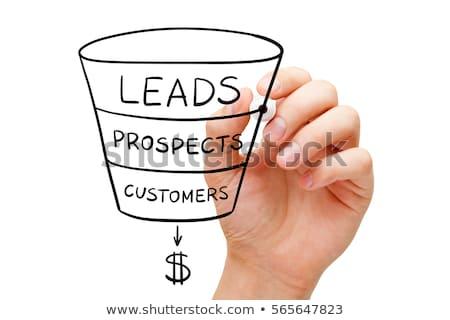 de · vendas · marketing · seis · customizáveis · indicação - foto stock © ivelin