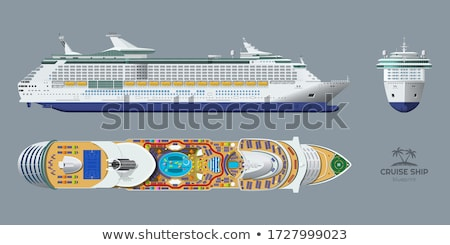 water transport cruise liner and sea trip vector foto stock © robuart