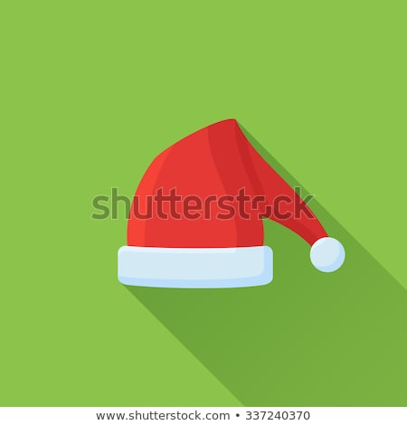 hat of santa claus closeup vector illustration stock photo © robuart