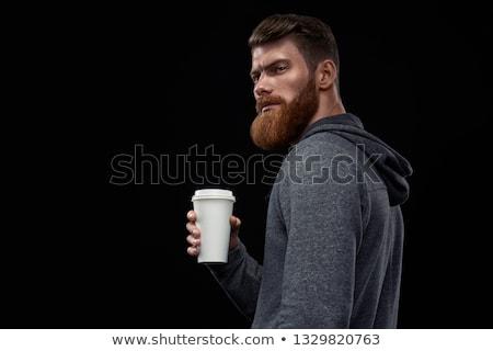 Ritratto attrattivo casuale uomo pausa caffè indossare Foto d'archivio © feedough
