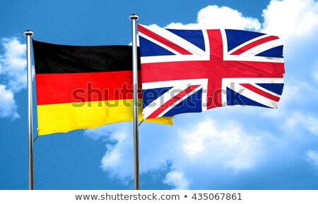 Two waving flags of Germany and UK Stock photo © MikhailMishchenko