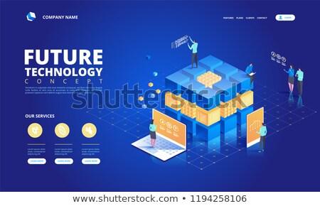 Bitcoin technologie geïsoleerd isometrische 3D iconen Stockfoto © robuart