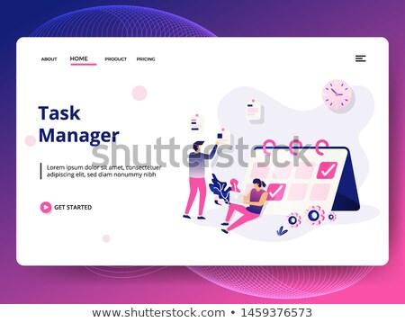 Teia página modelo negócio aplicativos planejamento Foto stock © ikopylov