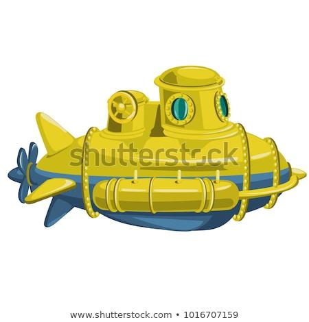 żółty podwodny odizolowany biały wektora cartoon Zdjęcia stock © Lady-Luck