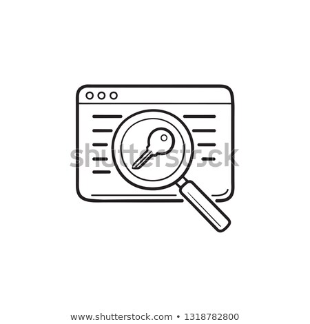 Keywords for web page hand drawn outline doodle icon. Stock photo © RAStudio