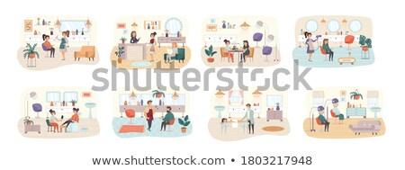 salón · de · belleza · componen · manicura · patrón · cepillo - foto stock © robuart