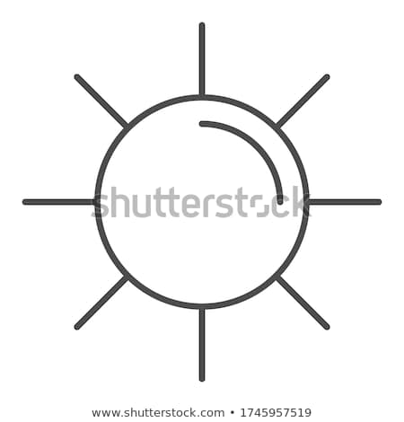 Sun shining outline icon. linear style sign for mobile concept and web design. Sunny weather simple  Stock photo © kyryloff