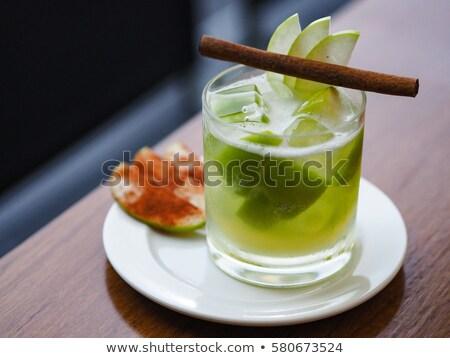 pinta · manzana · sidra · hielo · frío · frescos - foto stock © grafvision
