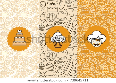 bakery icons set pattern stock photo © netkov1