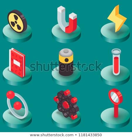 Fysica kleur iconen wetenschap uitrusting medische Stockfoto © netkov1