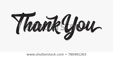 спасибо · рисованной · современных · каллиграфия · текста · белый - Сток-фото © sonia_ai