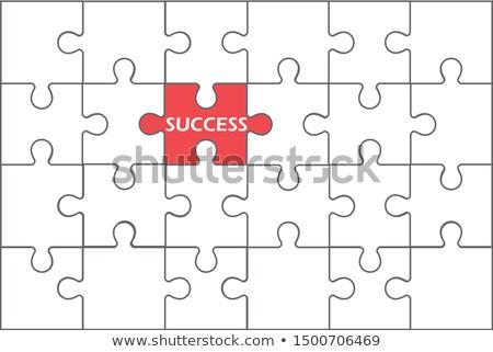 Puzzle parçaları farklı bir çok renk Stok fotoğraf © 6kor3dos