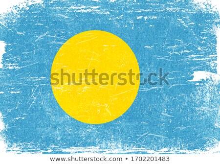 Grunge bandeira Palau vetor Foto stock © nazlisart