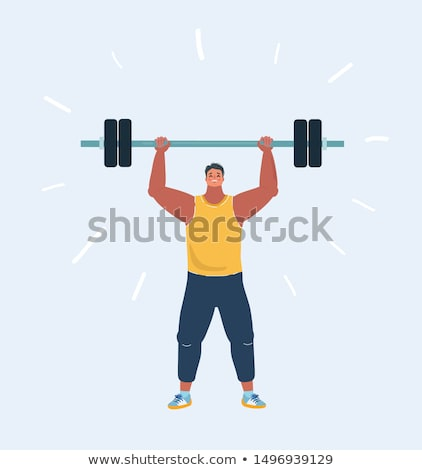 Man Lift Barbell Illustration Stock photo © lenm