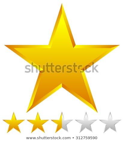 Votação três dourado estrelas 3D 3d render Foto stock © djmilic