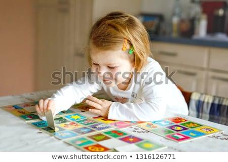 Mémoire jeu enfants enfants vecteur Photo stock © anastasiya_popov
