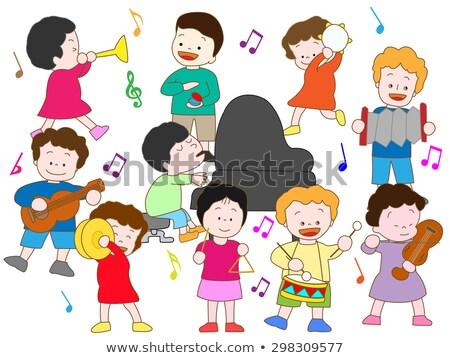 óvoda zene szett lány klasszikus zene játék Stock fotó © toyotoyo