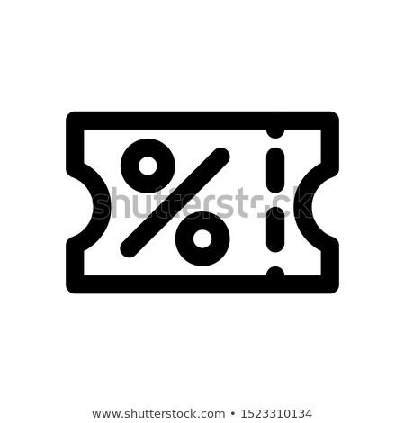икона скидка билета процент знак Сток-фото © ussr